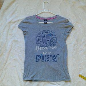 Women's XS or Jr  large Victoria secrets Pink t shirt